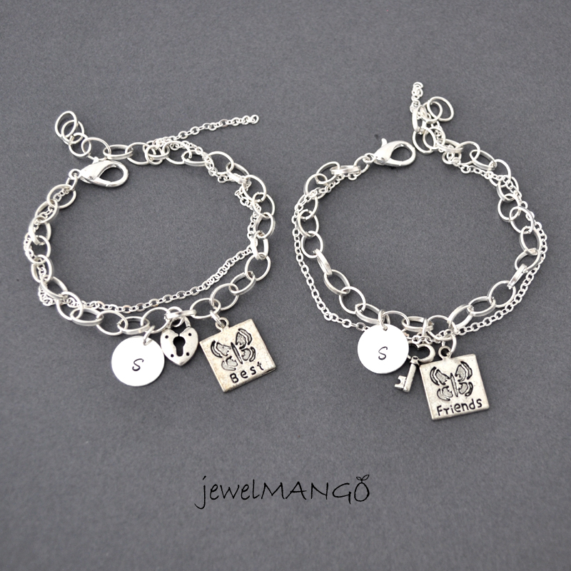 best friend bracelet friendship bracelet set bff key